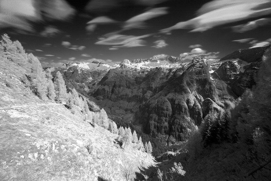 fotografia scattata con filtro infrarosso